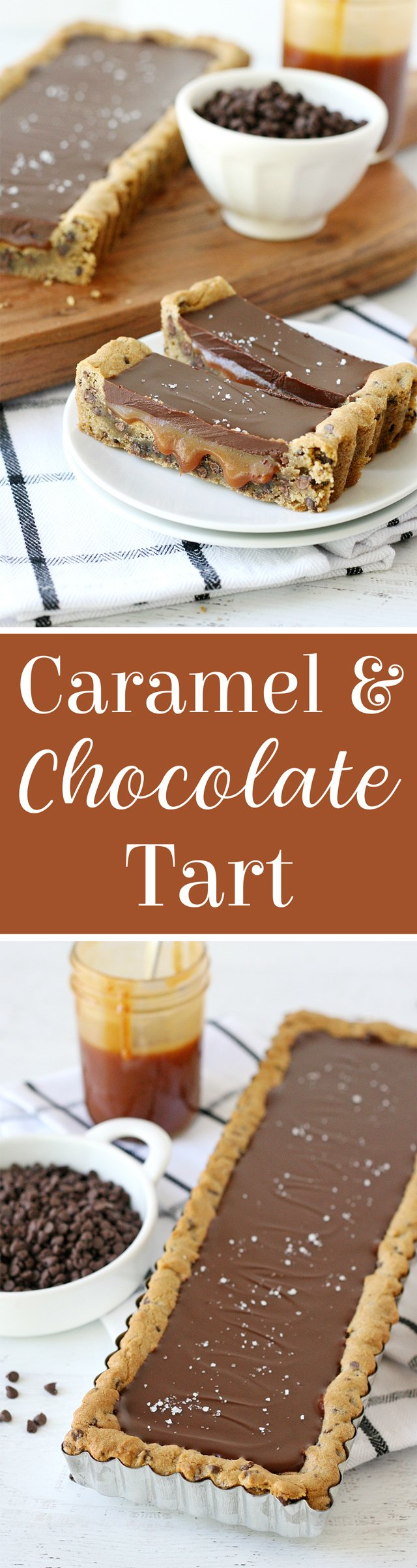 Chocolate Chip Salted Caramel Tart