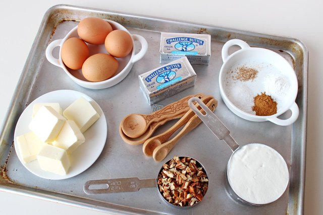 Butter Pecan Bundt Cake Ingredients