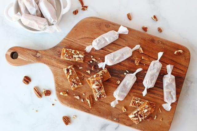 homemade salted caramels