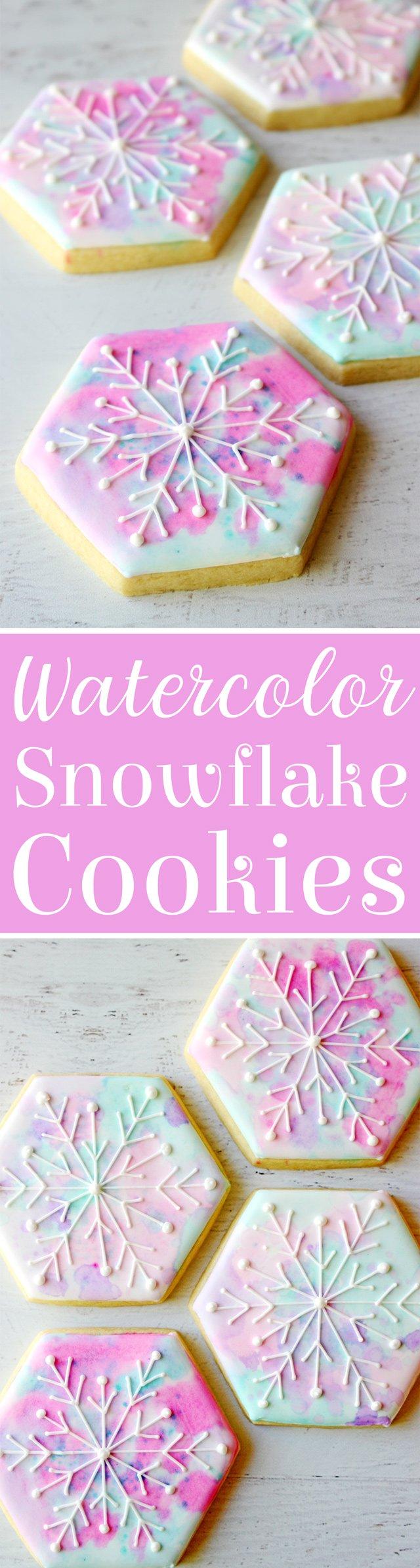 Hexagon Snowflake Cookies