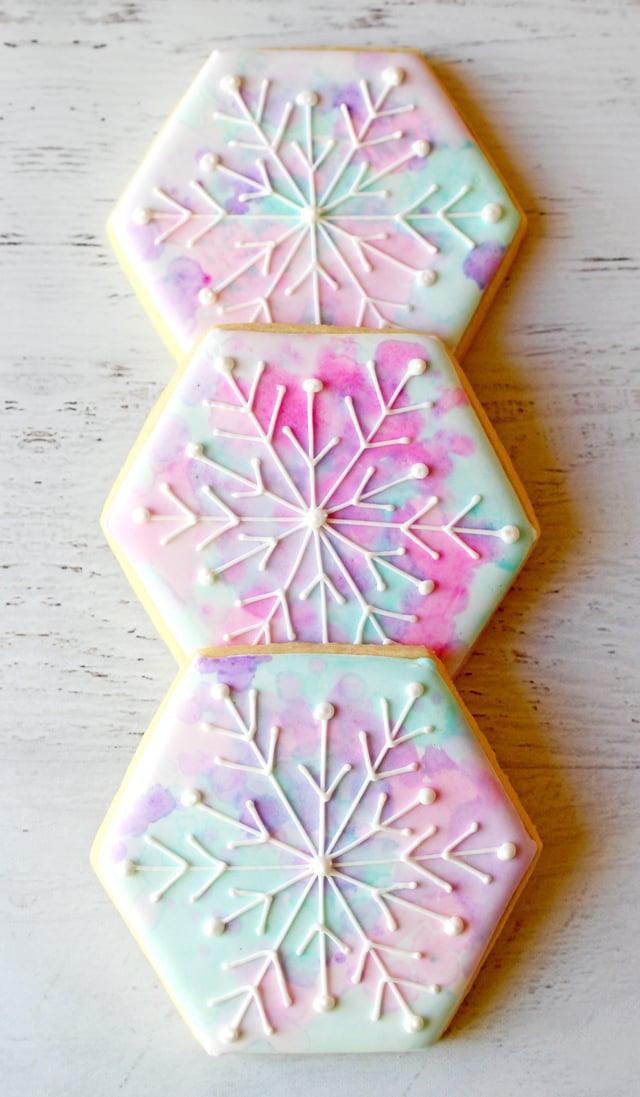 Snowflake Decorated Cookies