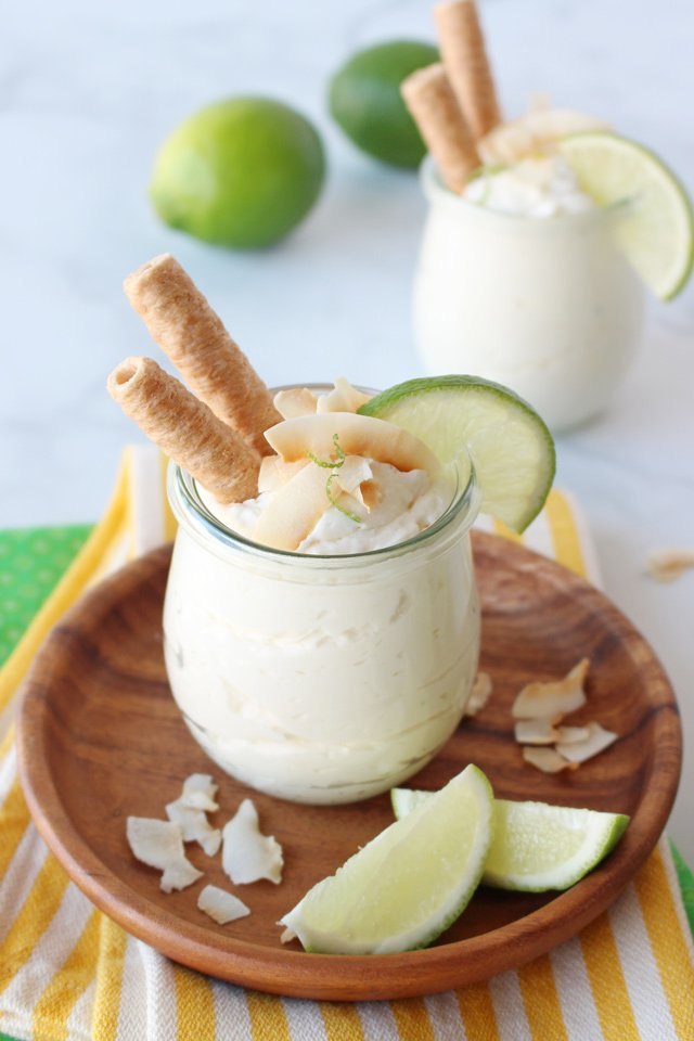 Coconut Lime Cheesecake Mousse