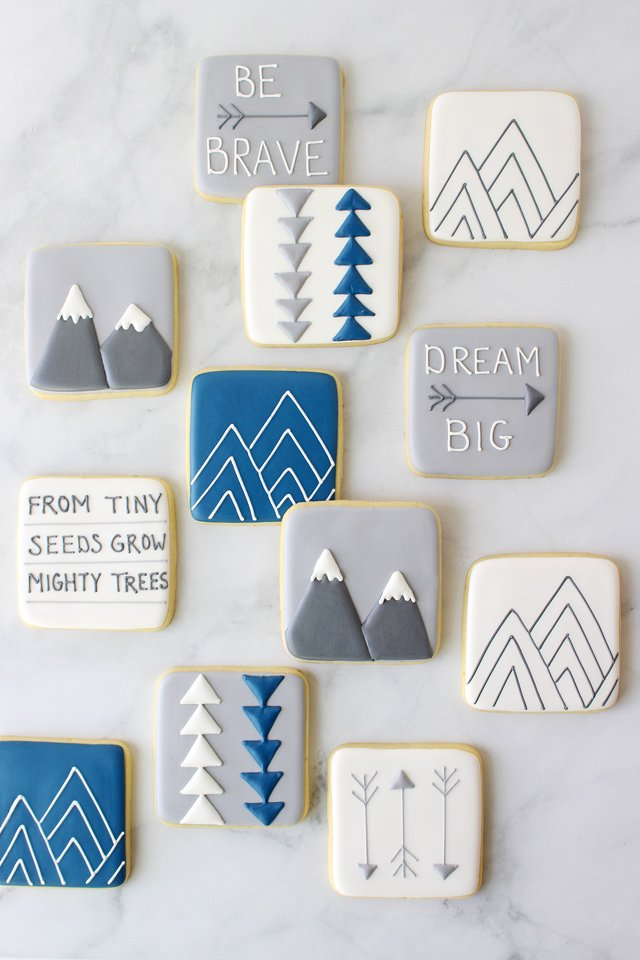 Modern Baby Shower Cookies