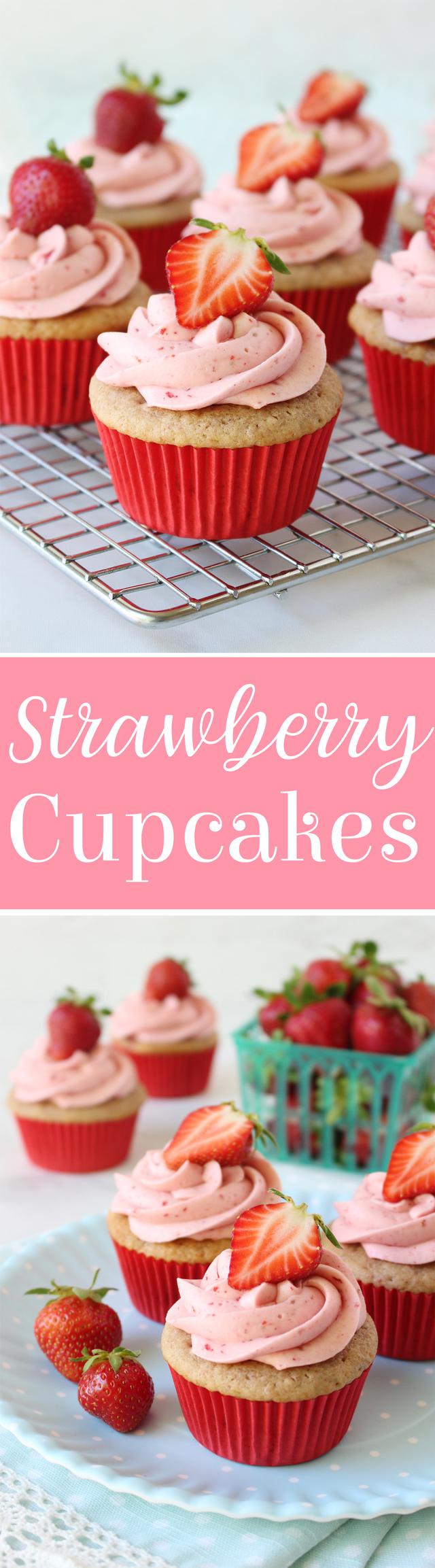 Best Strawberry Cupcakes