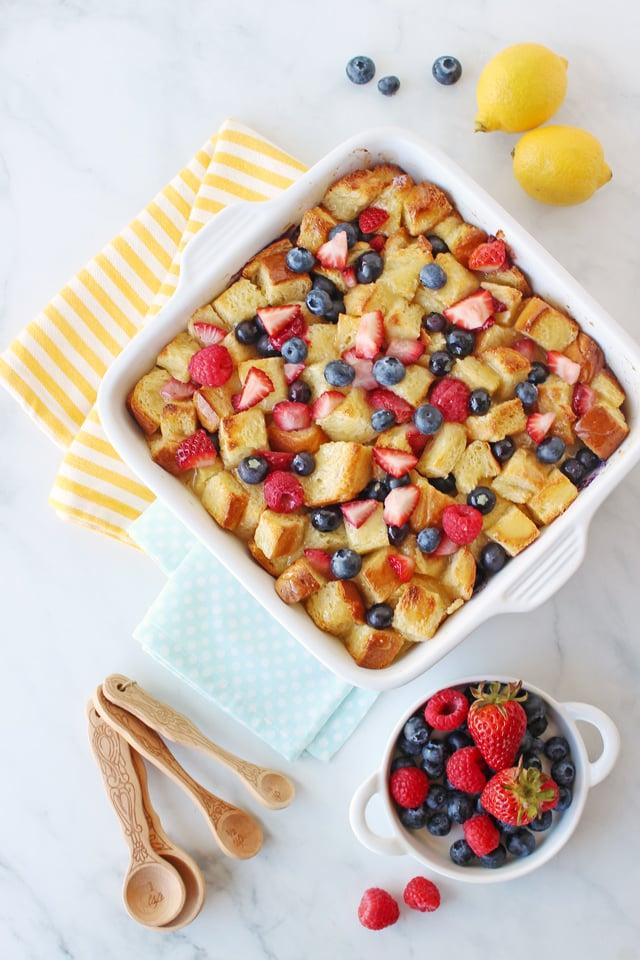 Lemon Berry Bread Pudding